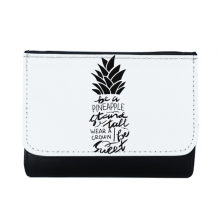 Be a Pineapple Stand Tall Sweet Quote Multi-Function Faux Leather Wallet Card Purse Gift