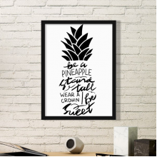 Be a Pineapple Stand Tall Sweet Quote Simple Picture Frame Art Prints Paintings Home Wall Decal Gift