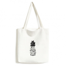 Be a Pineapple Stand Tall Sweet Quote Environmentally Tote Canvas Bag Shopping Handbag Craft Washable