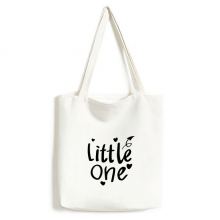 Little One Quote Environmentally Tote Canvas Bag Shopping Handbag Craft Washable