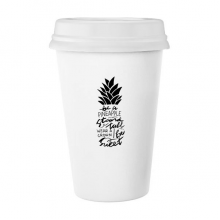 Be a Pineapple Stand Tall Sweet Quote Classic Mug White Pottery Ceramic Cup Gift 350 ml