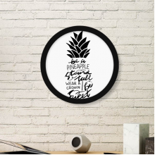 Be a Pineapple Stand Tall Sweet Quote Round Picture Frame Art Prints of Paintings Home Wall Decal Gift