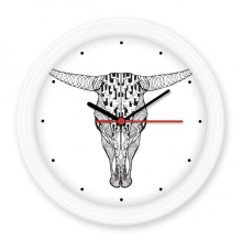 Long Face Cow Animal Portrait Sketch Silent Non-ticking Round Wall Decorative Clock Battery-operated Clocks Gift Home Decal