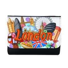 The London Eye Buckingham Palace England Graffiti Multi-Function Faux Leather Wallet Card Purse Gift