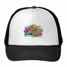 Dambulla Elephant Sri Lanka Graffiti Trucker Hat Baseball Cap Nylon Mesh Hat Cool Children Hat Adjustable Cap Gift