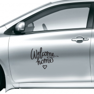 Welcome Home Quote Car Sticker on Car Styling Decal Motorcycle Stickers for Car Accessories Gift