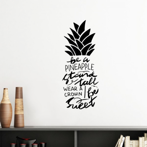 Be a Pineapple Stand Tall Sweet Quote Outline  Removable Wall Sticker Art Decals Mural DIY Wallpaper for Room Decal