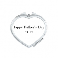 2017 Happy Father Day Festival Quote Heart Compact Makeup Pocket Mirror Portable Cute Small Hand Mirrors Gift