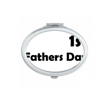 1st Father's Day Festival Quote Oval Compact Makeup Pocket Mirror Portable Cute Small Hand Mirrors Gift