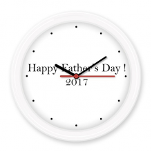 2017 Happy Father Day Festival Quote Silent Non-ticking Round Wall Decorative Clock Battery-operated Clocks Gift Home Decal