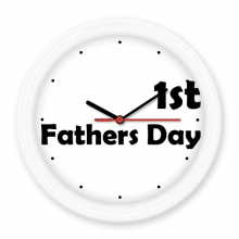 1st Father's Day Festival Quote Silent Non-ticking Round Wall Decorative Clock Battery-operated Clocks Gift Home Decal