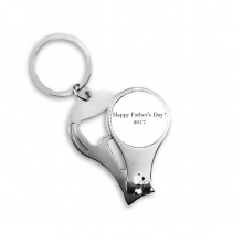 2017 Happy Father Day Festival Quote Metal Key Chain Ring Multi-function Nail Clippers Bottle Opener Car Keychain Best Charm Gift