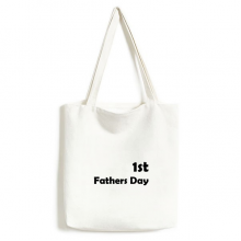 1st Father's Day Festival Quote Canvas Bag Environmentally Tote Large Gift Capacity Shopping Bags