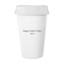 2017 Happy Father Day Festival Quote Classic Mug White Pottery Ceramic Cup Gift 350 ml