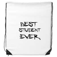Best Student Ever Teacher Quote Drawstring Backpack Shopping Handbag Gift Sports Bags