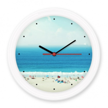 Ocean Sand Beach Science Nature Picture Silent Non-ticking Round Wall Decorative Clock Battery-operated Clocks Gift Home Decal