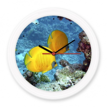 Ocean Water Fish Nature Picture Silent Non-ticking Round Wall Decorative Clock Battery-operated Clocks Gift Home Decal