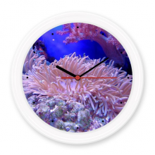 Ocean Coral Science Nature Picture Silent Non-ticking Round Wall Decorative Clock Battery-operated Clocks Gift Home Decal