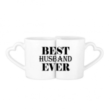 Best Husband Ever Quote Lovers' Mug Lover Mugs Set White Pottery Ceramic Cup Gift with Handles