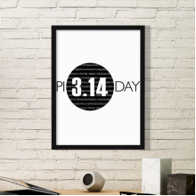 3.14 Pi Day Anniversary Simple Picture Frame Art Prints Paintings Home Wall Decal Gift
