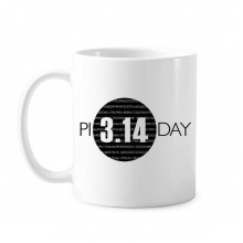 3.14 Pi Day Anniversary Classic Mug White Pottery Ceramic Cup Gift With Handles 350 ml