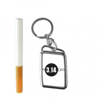 3.14 Pi Day Anniversary Cigarette Lighter USB Electric Arc Metal Flameless Rechargeable Windproof Lighter Gift