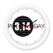3.14 Pi Day Anniversary Silent Non-ticking Round Wall Decorative Clock Battery-operated Clocks Gift Home Decal