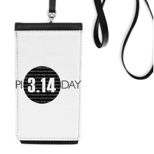 3.14 Pi Day Anniversary Faux Leather Smartphone Hanging Purse Black Phone Wallet Gift