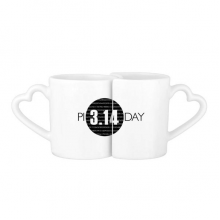 3.14 Pi Day Anniversary Lovers' Mug Lover Mugs Set White Pottery Ceramic Cup Gift with Handles