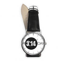 3.14 Pi Day Anniversary Quartz Analog Wrist Business Casual Watch with Stainless Steel Case Gift