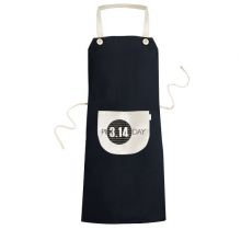 3.14 Pi Day Anniversary Cooking Kitchen Black Bib Aprons With Pocket for Women Men Chef Gifts