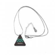 January February Aquarius Constellation Triangle Shape Pendant Necklace Jewelry With Chain Decoration Gift