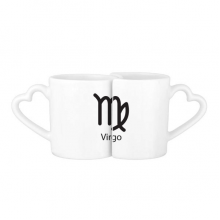 September August Virgo Constellation Lovers' Mug Lover Mugs Set White Pottery Ceramic Cup Gift with Handles