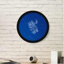 Star Universe Gemini Constellation Pattern Round Picture Frame Art Prints of Paintings Home Wall Decal Gift