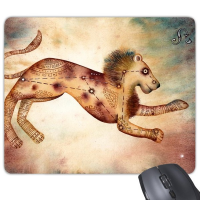 July August Leo Constellation Zodiac Rectangle Non-Slip Rubber Mousepad Game Mouse Pad Gift