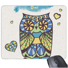 Decorative Love Owl Mouse Pad Non-Slip Rubber Mousepad Game Office