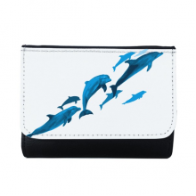 Dolphin Big Small Multi-Function Faux Leather Wallet Card Purse Gift