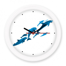 Dolphin Big Small Silent Non-ticking Round Wall Decorative Clock Battery-operated Clocks Gift Home Decal