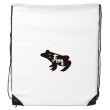 Frog Black And White Animal Drawstring Backpack Shopping Gift Sports Bags