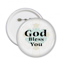 God Bless You Wishes Quote Round Pins Badge Button Clothing Decoration Gift 5pcs
