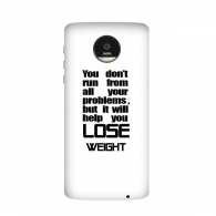 Lose Weight English Slogan Black Letter Motorola Moto Z / Z Force / Z2 Force Droid Magnetic Mods Phonecase Style Mod Gift
