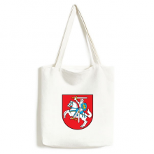 Lithuania Europe National Emblem Environmentally Tote Canvas Bag Shopping Handbag Craft Washable