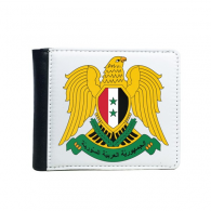 Syria Asia National Emblem Flip Bifold Faux Leather Wallet  Multi-Function Card Purse Gift