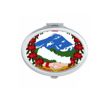 Nepal Asia National Emblem Oval Compact Makeup Pocket Mirror Portable Cute Small Hand Mirrors Gift