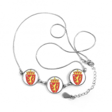 Norway Europe National Emblem Round Shape Pendant Necklace Jewelry With Chain Decoration Gift
