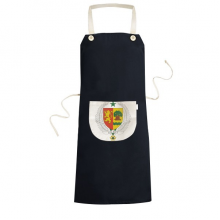 Senegal Africa National Emblem Cooking Kitchen Black Bib Aprons With Pocket for Women Men Chef Gifts