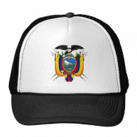 Quito Ecuador National Emblem Trucker Hat Baseball Cap Nylon Mesh Hat Cool Children Hat Adjustable Cap Gift