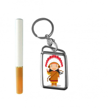 Aboriginal Tribe USA Cartoon Cigarette Lighter USB Electric Arc Metal Flameless Rechargeable Windproof Lighter Gift