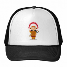 Aboriginal Tribe USA Cartoon Trucker Hat Baseball Cap Nylon Mesh Hat Cool Children Hat Adjustable Cap Gift