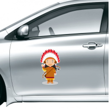 Aboriginal Tribe USA Cartoon Car Sticker on Car Styling Decal Motorcycle Stickers for Car Accessories Gift